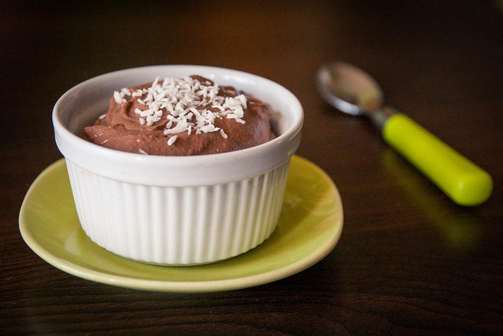 crème/mousse au chocolat végane