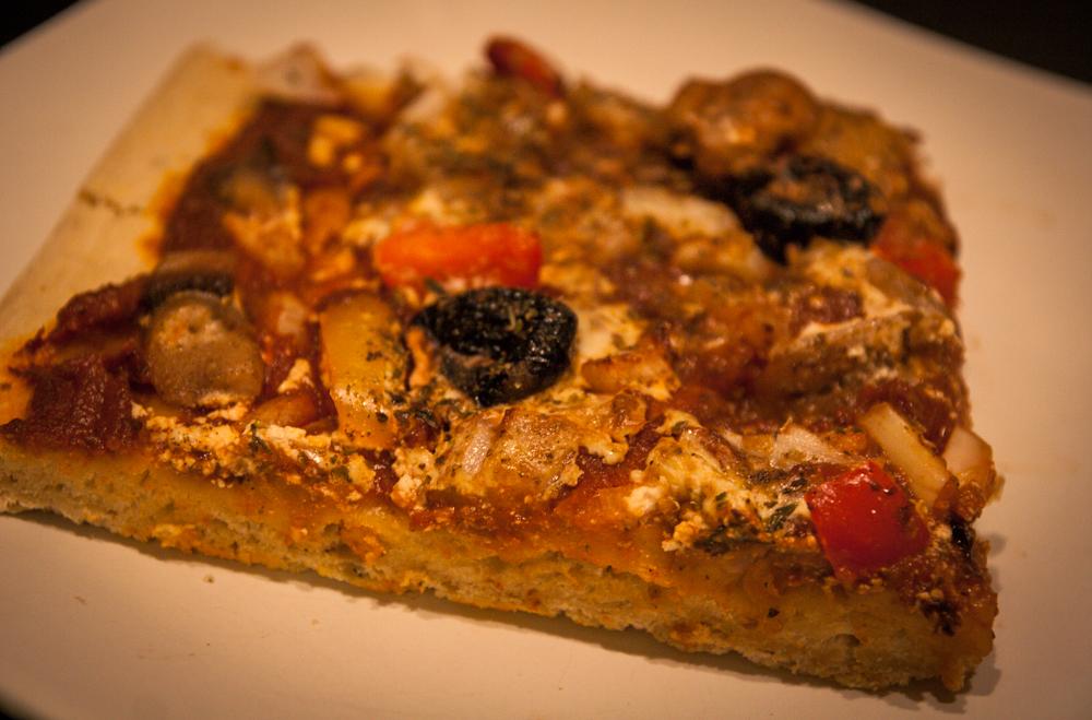 Pizza végane pâte