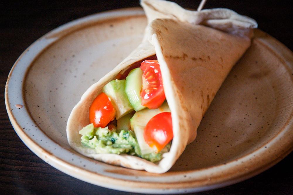 tortillas au guacamole