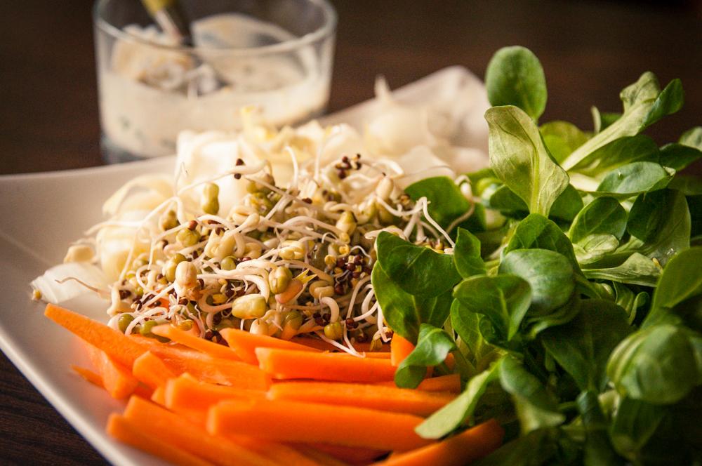 salade aux graines germées