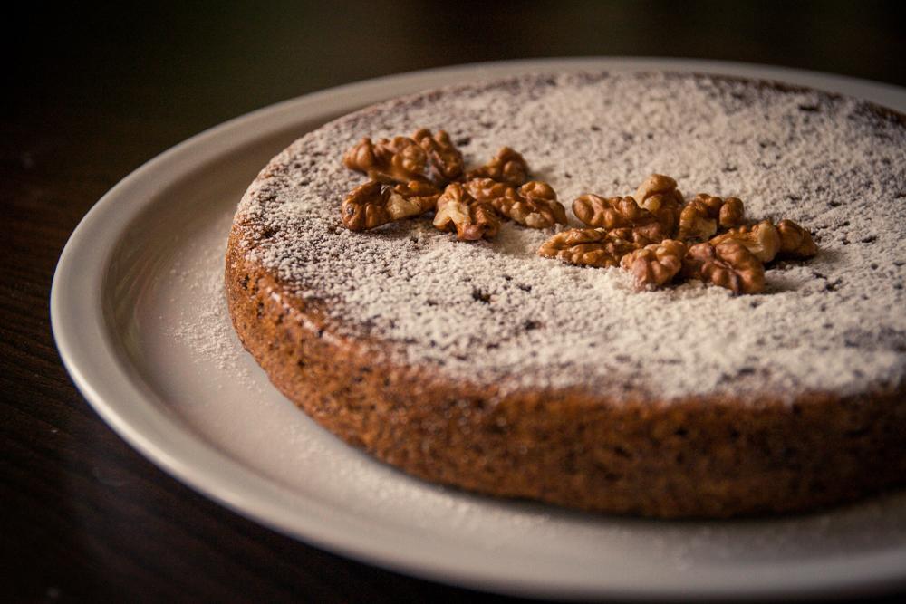 Gâteau aux noix végane