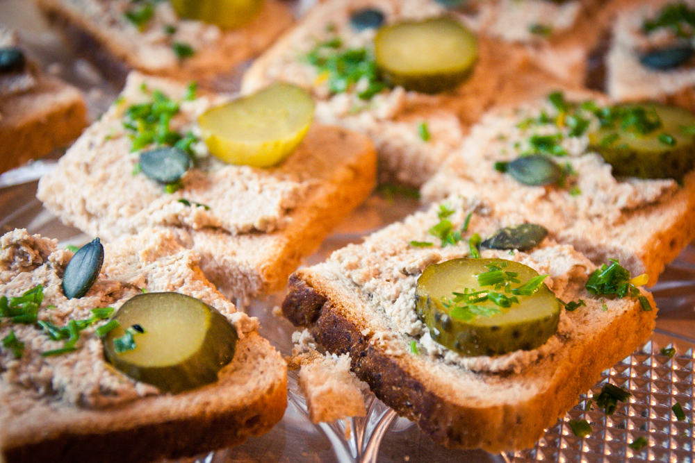 toasts véganes