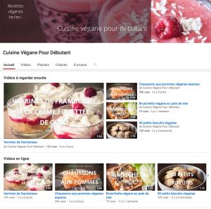 chaîne YouTube Cuisine végane pour débutant·e